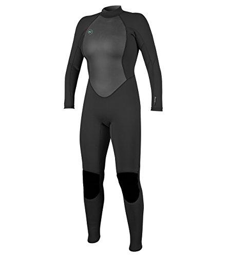 Reactor II 3/2mm Back Zip Full Wetsuit, Schwarz (Black), 36 (6) Black Double-zip