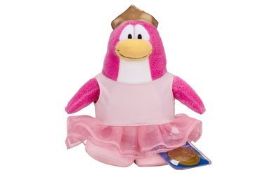 Disney Club Penguin 6.5 Inch Series 10 Plush Figure Ballerina Includes Coin with Code! by Club Penguin