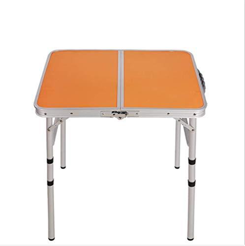 ZMXZMQ Kleine Klapptisch Höhenverstellbar, Utility Outdoor Camping Tisch, Tragbare Leichte Falten,orange