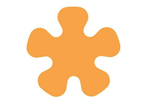 Papillon 37 cm de diamètre et poêle de Protection d'écran Anti-dérapant-Lot de 3 (Orange)