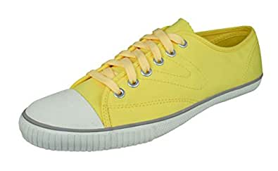 best sneakers 8e537 2d9eb Tretorn T56 Canvas Mens Trainers Plimsolls-Yellow-6