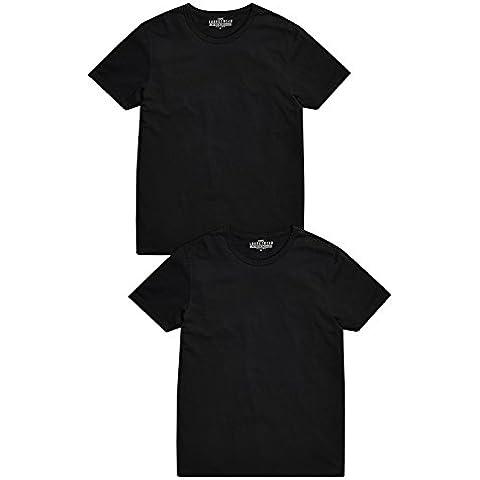next Hombre Paquete De Dos Camisetas Manga Corta Cuello Redondo De Algodón Alta Calidad