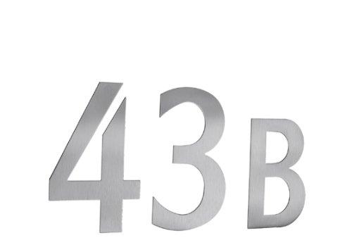 Beslagsboden B986 Numéro de boîte aux lettres 6 autocollant en Acier Inoxydable Brossé