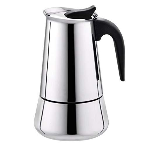 TAOtTAO Kaffeekanne Moka Espresso Maker Percolator-Herd aus Edelstahl mit breitem Boden (450ml) - 450 Thermoskanne
