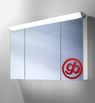 Spiegelschrank aus Aluminium - von Schneider 120 cm