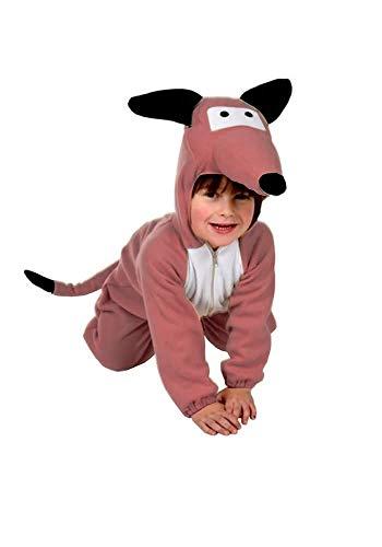 Kinder Hunde Kostüm - Hund Kinder Kostüm 122 - 128 für Fasching Karneval Rummelpott Kinderkostüm
