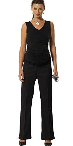 FunMum Maternity Damen Hose Gr. 48W x 28L, schwarz (Tall Womens Leggings)