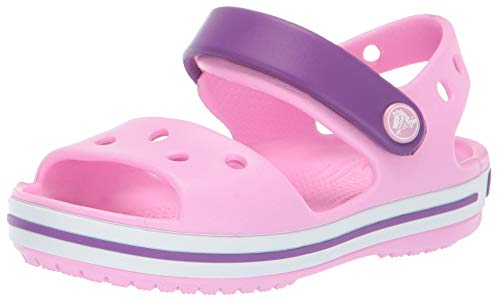 Crocs Kid's Crocband Sandal Open Toe, Rose (Carnation/Amethyst 6ai), 3 UK 34/35 EU