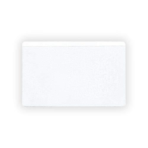 100 Stück - Selbstklebende Visitenkartentaschen/ Visitenkartenhüllen (transparent 95 x 60 mm, lange Seite offen)