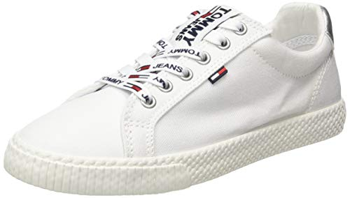 Tommy Hilfiger Tommy Jeans Casual Sneaker, Zapatillas para Mujer, Blanco White 100, 39 EU