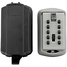 Premium Storage Box–Caja de cerradura con llave, con funda impermeable para exterior llave maestra–diseñado para hogares, Business, madres, alquiler propiedades, Directores de la propiedad