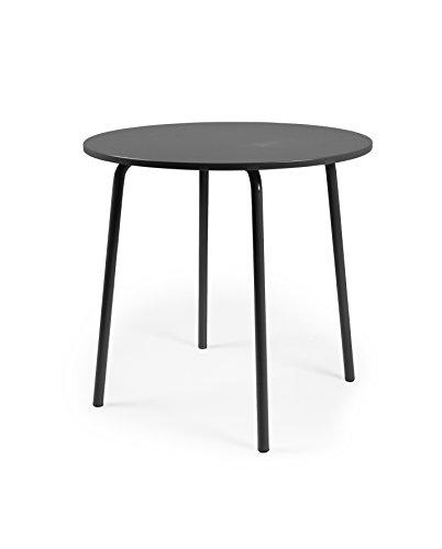 Tenzo LOLLY Designer Table Ronde, Autre, Noir, 90 x 90 x 76 cm