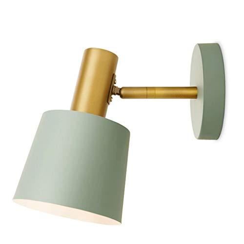 Diss JM Lámpara de Pared- Lámpara de Pared Dormitorio Luz de Lectura Luz IKEA con Interruptor Enchufe Línea Brillante Lámpara de Pared Lámpara de Pared 12x12cm (Color : Blue, Size : 12x12cm)