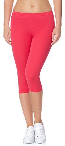 Ladeheid Damen Leggings 3/4 LAMA01 (Rosa21, 2XL/3XL (Herstellergröße: 44/46)) (Legging Warme)
