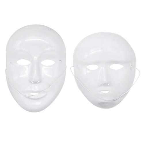 Amosfun 24 stücke Blank Malerei Maske Männlich Weiblich Vollmaske Halloween Kostüme DIY Maske (Weibliche Halloween Kostüm Diy)