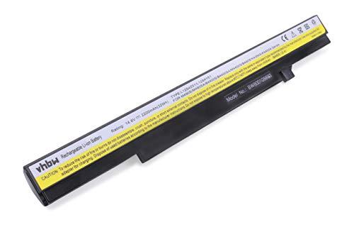 vhbw Li-ION Batterie 2200mAh (14.8V) pour Ordinateur PC Lenovo IdeaPad B4400, B4400S, B4400sa, B490s, K2450 comme 4ICR17/65, L12S4Y51, L12S4Z51.