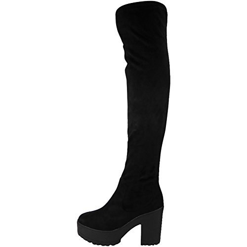 black-size-7-womens-over-the-knee-thigh-high-cleated-sole-faux-suede-boots-chunky-platform-boots-fit