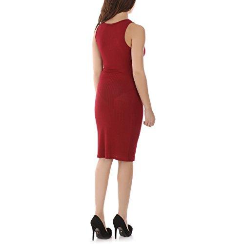 La Modeuse - Robe mi-longue à bretelles Rouge
