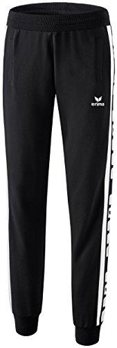 erima Damen Classic 5-C Sweathose, schwarz/weiß, 46