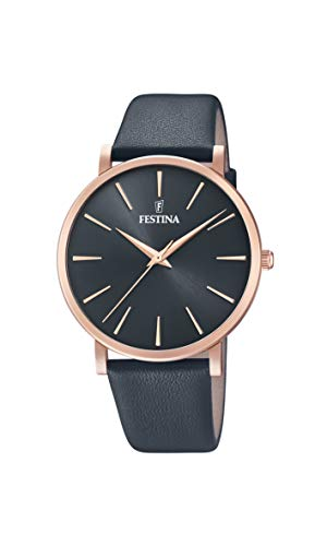 Festina Damen Analog Quarz Uhr mit Leder Armband F20373/2