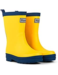 Hatley Yellow and Navy Classic Rain Boots