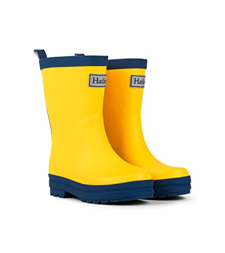 Hatley Kids Rain Boots - Yellow & Navy