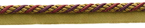 10 Yard Value Pack of Medium Black Cherry Red, Camel Beige, Purple 1/4\