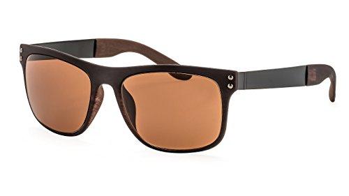 Filtral Eckige Sonnenbrille/Retro-Sonnenbrille für Damen & Herren mit Rubber-Finish F3020008