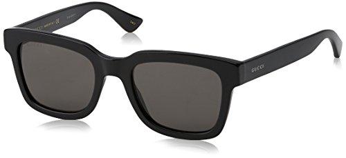 Gucci Herren GG0001S 001 Sonnenbrille, Schwarz (Black/Smoke), 52 (Gucci Männer Sonnenbrillen)