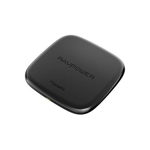iPhone Wireless Charger RAVPower 7,5W Wireless Ladegerät für iPhone X, iPhone 8/ 8 Plus; 10W Fast Wireless Ladegerät für Galaxy S9 / S9+ / Note 8 / S8 / S8+ / S7 / S7 Edge und 5W für alle Qi-fähigen Geräte ohne Schnelladefunktion