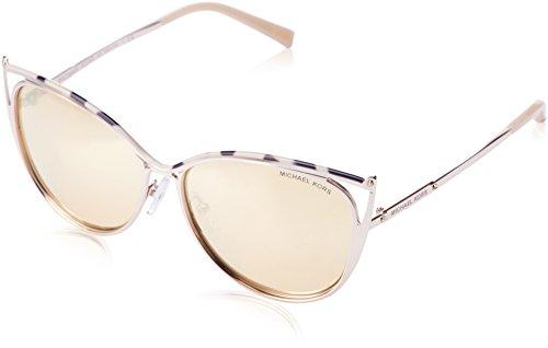 MICHAEL KORS Unisex-Erwachsene Sonnenbrille Ina, Schwarz (Pink Tortoise 11657j), 56 (Sonnenbrille Kors Pink Michael)