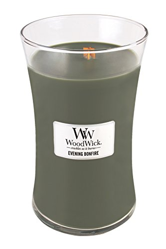Virginia Candle Company Evening Bonfire Woodwick 22Oz Large Jar Candle Burns 180 Hours by Woodwick