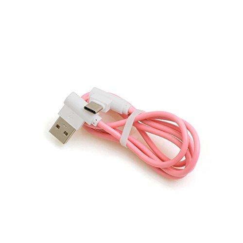 System-S-USB 3.1tipo C Angolo angolata a 90° maschio a USB 2.0A cavo dati cavo di ricarica cavo adattatore 89cm in rosa