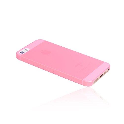 hardwrk ultra-slim Case für iPhone SE 5 5s - solid black - ultradünne Hülle für Apple iPhone in schwarz shiny pink