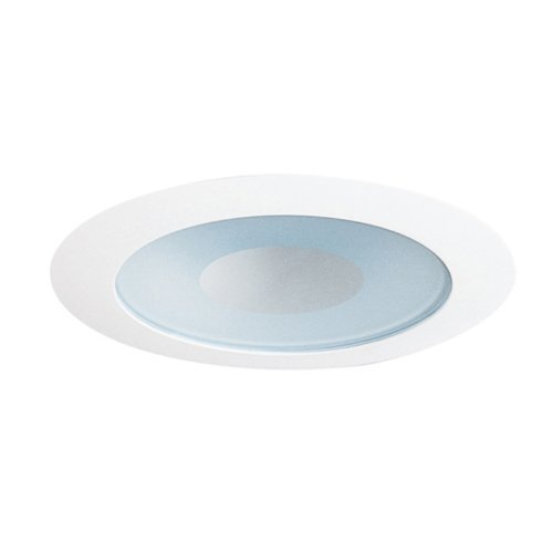 Wh Open-trim (Juno Lighting 441W-WH Lensed 4IN LV Shower Trim, Perimeter Frosted Lens with White Trim Ring by Juno Lighting Group)