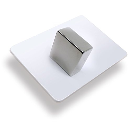 1 x Neodym-Magnet als Magnet-Quader in 30 x 30 x 15 mm, vernickelt (NiCuNi)   Haftkraft ca. ~32 kg   1 Quadermagnet extra stark (Dekorative Magnet-board)