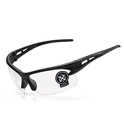 Epinki Unisex TPU+PC Fahrradbrille Sandkontrolle Radbrill Radsportbrille Anti-Fog Outdoor Schutz Brille für Motorrad Fahrrad Helmkompatible, Transparent
