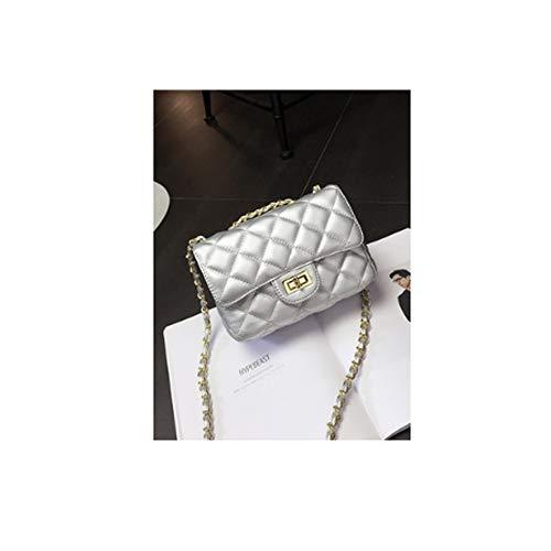 WEIFAN-Lady bags Einzelne Schulter Umhängetasche Weibliche Tasche Herbst Und Winter Tasche Weibliche 2018 Wilde Kleine Duft Rhombische Kette Tasche 20 * 8 * 14 cm Pu A4