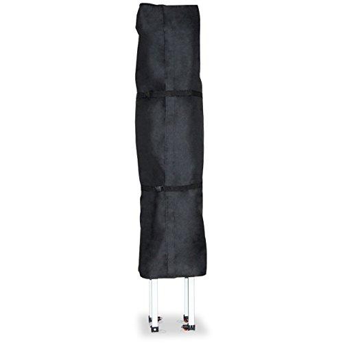 Les housses de protection d'INTENT24 pour tentes pliantes barnum pliant tente de jardin tente parapluie 3x3 mètres, sont en matériau Oxford noir hydrofuge et anti-salissures d'épaisseur 480 g/m²