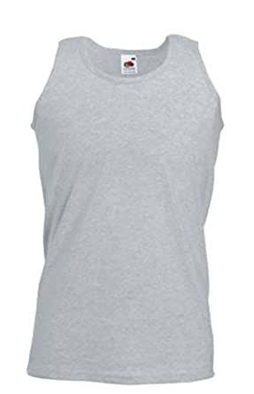 Fruit of the Loom Men's Athletic Lightweight Vest,Heather Grey, Large