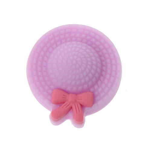 Lyguy, Silikon-Perlen, Mini-Hut, Beißring, Silikon-Perlen, BPA-frei, DIY Schnullerkette, Perlen, Teathing Toy Silikon Beißring Großhandel - violett