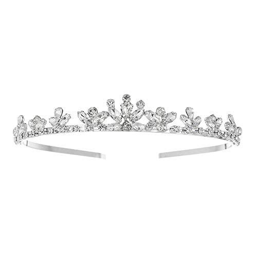 DWSM Strass Braut Krone Geformt Glas Diamant Braut Kopfschmuck Hochzeit Kopfbedeckungen