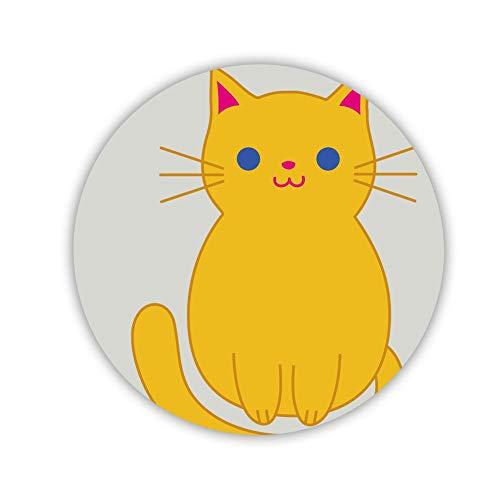 Drucken Cat Clipart Cartoon 1 Girl Besondere Hergestellt Von Mdf Auf Circle Refrigerator Magnet