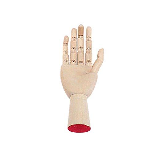 ZREAL Holz Hand Körper Künstler Modell gelenkig gelenkig Holzskulptur Mannequin