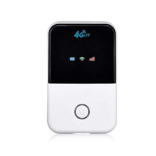 HM2 4G WiFi Router, Mini Router, 3G 4G LTE Wireless tragbare Tasche Wi-Fi Mobile Hotspot Auto Wi-Fi Router, mit SIM-Kartensteckplatz - Weiß