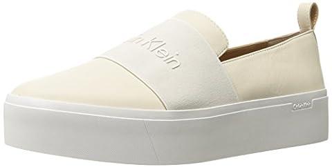 Calvin Klein Damen Jacinta Cervo/Elastic Hohe Hausschuhe, Weiß (Sfw), 39 EU (Calvin Klein Sneakers)