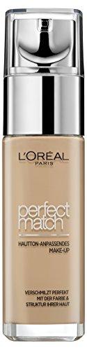 L'Oréal Paris Foundation Perfect Match, deckendes Make Up - perfekte Verschmelzung mit dem Hautton & 24h Feuchtigkeit (Gesichts Make Ups)