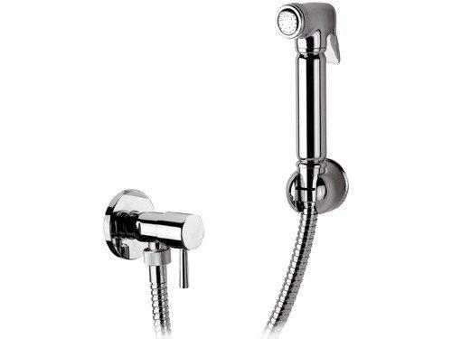 Design WC/Bidet Handbrause Komplettset mit Absperrventil - Rund