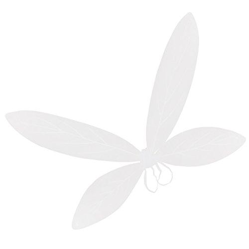faschingskostueme engel und teufel FITYLE Glitzer Elfen Engel Flügel Karneval Kostüm schmetterlingsflüge Faschingskostüme Butterfly Wing Elfenflügel Feenflügel für Kinder Mädchen - Weiß, 90 x 56 cm