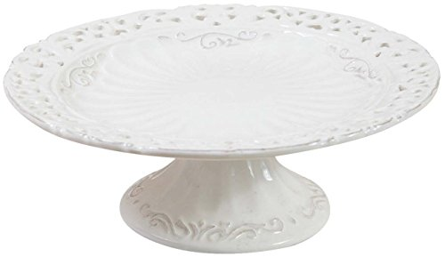 Alzata in porcellana bianca shabby l21xpr21xh7,5 cm